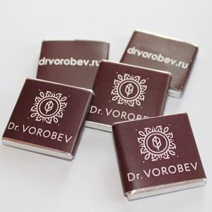 Шоколад Premium (Berry Callebaut) с логотипом клиента, 5 гр. 300 ШТУК