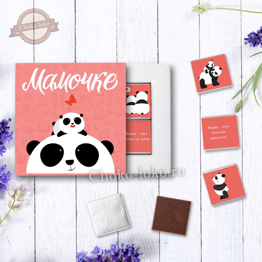 "Шоколадный набор ""МАМОЧКЕ"" панда"